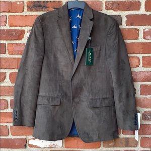 Ralph Lauren Mens Faux Suede Jacket blazer 36 Reg